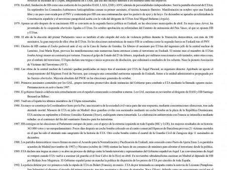 Cronología del Terrorismo en Euskadi (1952-2011)