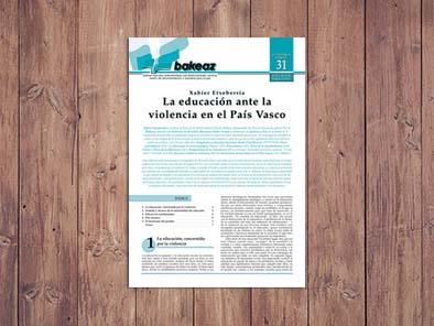 La educación ante la violencia en el País Vasco