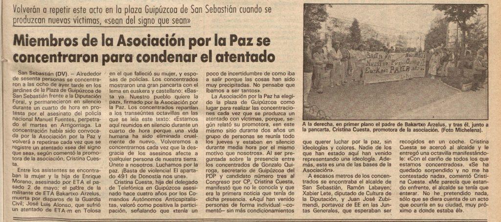 El Diario Vasco, 22 de mayo de 1986